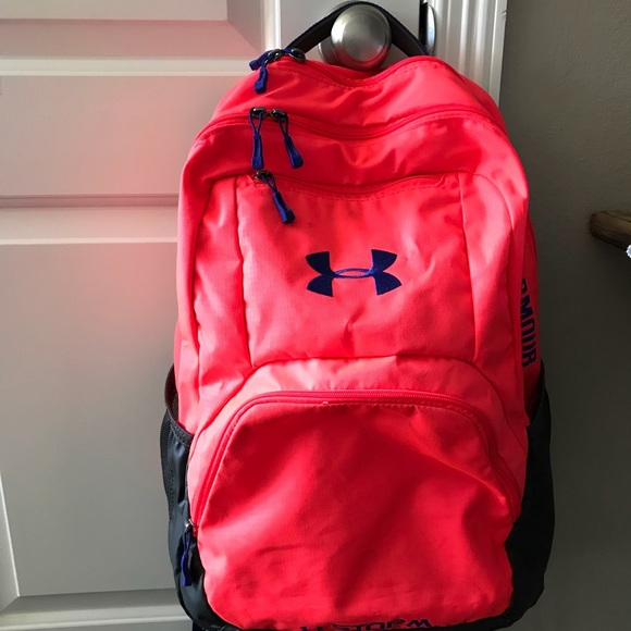 Under Armour hot pink backpack. M 5b6bb868dcfb5a8482a51070 a534f957d3b48